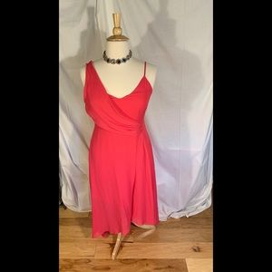 Parker draped gown in bright rose, size Large